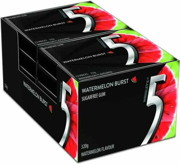 5 Gum Watermelon Burst Wrigleys 10 x 32g