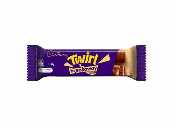 twirl breakaway cadbury 40g