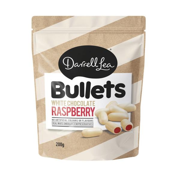 Darrell Lea White Chocolate Raspberry Bullets Licorice 200g