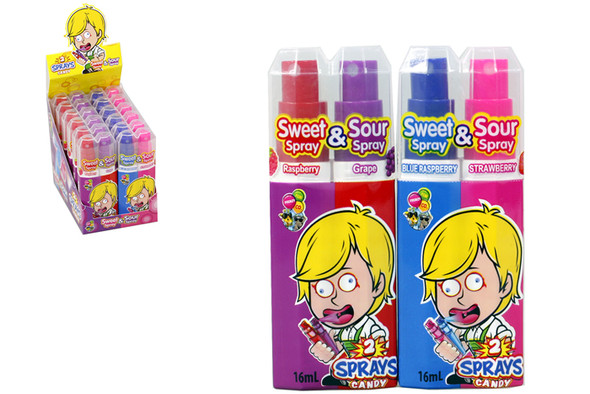 sweet or sour candy spray fun frenzy
