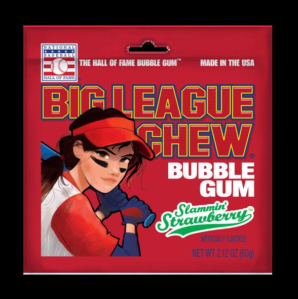 Slammin' Strawberry Big League bubblegum 60g