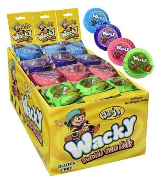 Wacky Bubble Gum Rolls