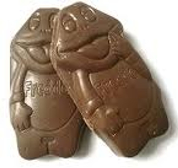 Opened chocolate freddo frogs. delicious confectionery