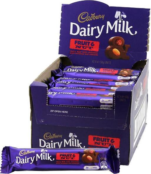 Cadbury Fruit & Nut 42 x 50g display box