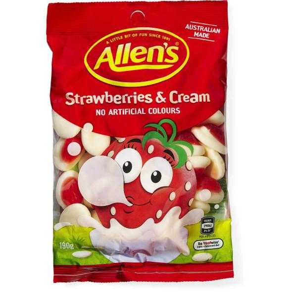 Allens Strawberries and Cream 12 x 190g
