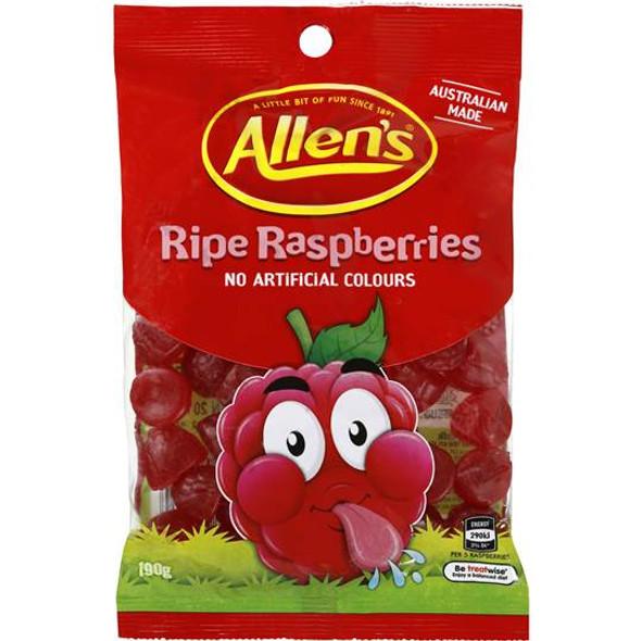 Allens Ripe Raspberries 12 x 190g