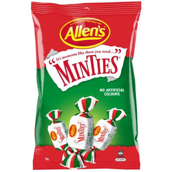 allens minties 1kg bag of lollies