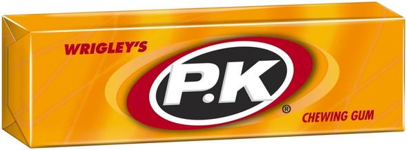 wrigleys single pellet pack of PK yellow chewing gum