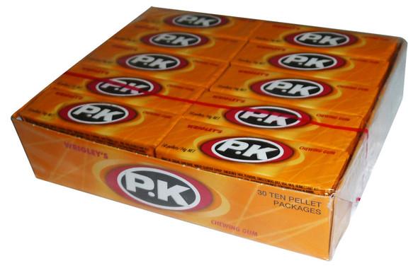 Wrigleys pk yellow chewing gum