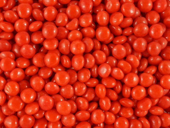 red candy chews
