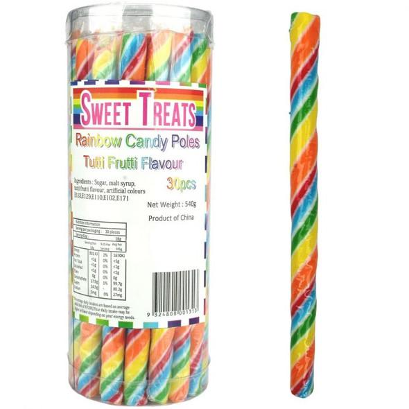 rainbow candy poles bbs sweet treats