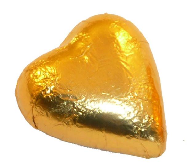 gold chocolate heart