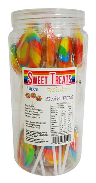 Rainbow swirly pops swirl lollipops