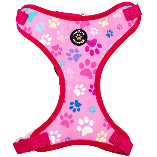 Pink Paws Dog Harness