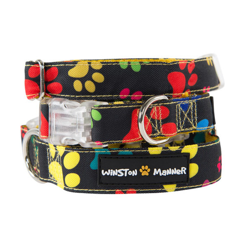 Winston Manner My Prints Dog Collar