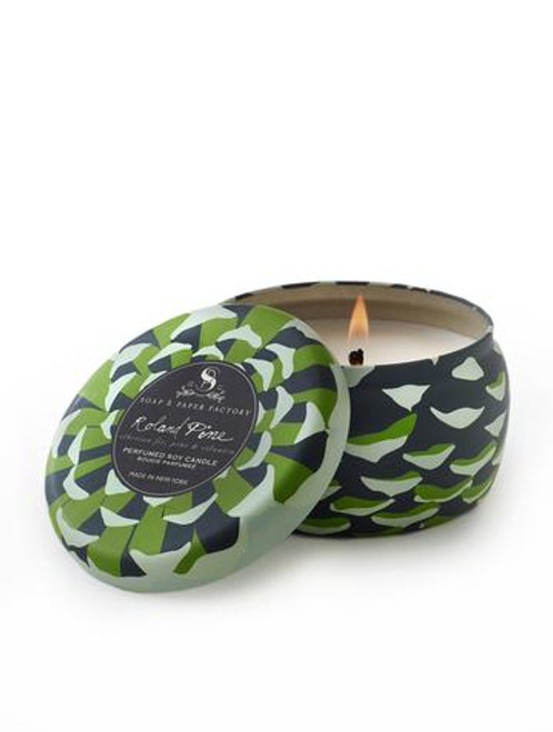 Roland Pine Large Tin Soy Candle