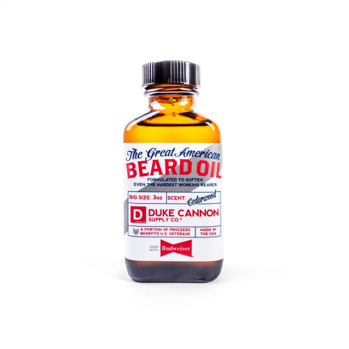 Duke Cannon GREAT AMERICAN BEARD OIL - MADE WITH BUDWEISER