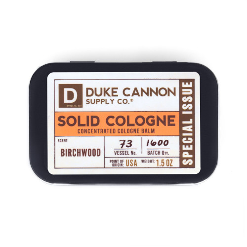 Duke Cannon Solid Cologne-Birchwood