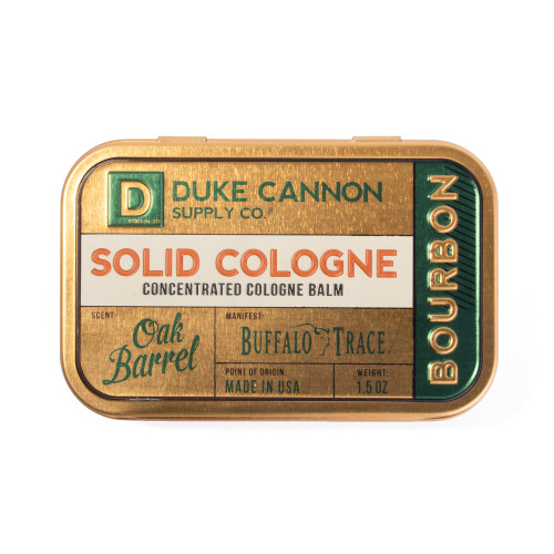 Duke Cannon Solid Cologne-Bourbon
