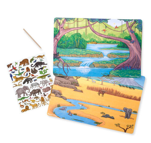 Melissa & Doug Transfer Sticker Scenes - Jungle and Savanna