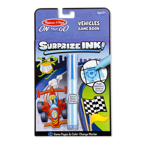 Melissa & Doug Surprize Ink! Vehicles - On the Go Travel Activity Book