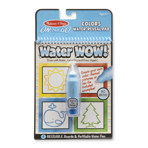 Melissa & Doug Water Wow! - Colors & Shapes Water Reveal Pad - On the Go Travel Activity