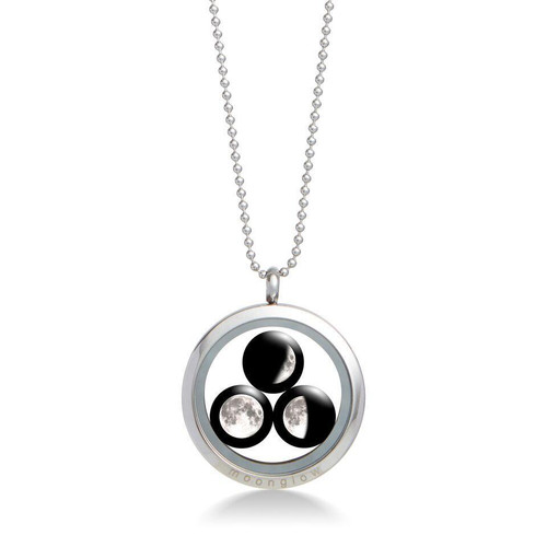 Family Locket Necklace ( 3 Moons)