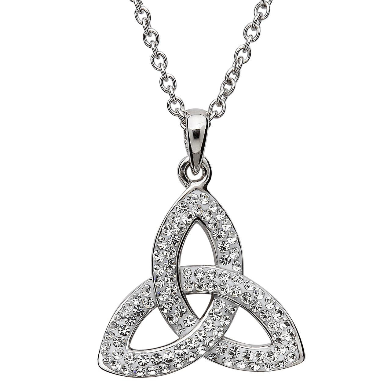 15feacd6620bc Trinity Knot Necklace Embellished with Swarovski Crystals