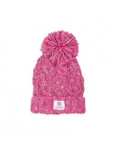a7b674aaf74 Lady of Aran Pink Blend Bobble Beanie