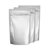 "6"" x 9"" x 3"" 24oz*  White Foil Stand Up Zip Lock Bags Pouches Odor Proof"