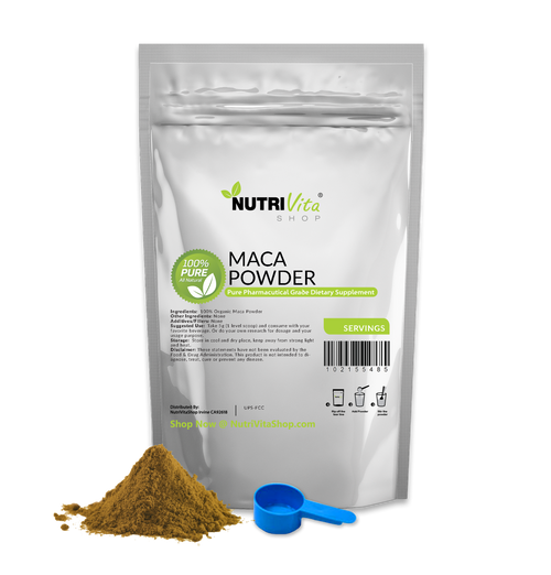 Raw Maca 100% Pure Powder Organically Grown Pharmaceutical Grade