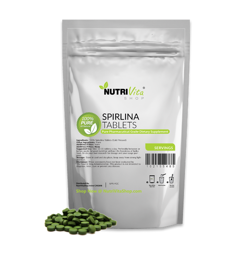 Organically Grown Raw Spirulina Tablets Natural Weight Loss Pharmaceutical 100% Pure