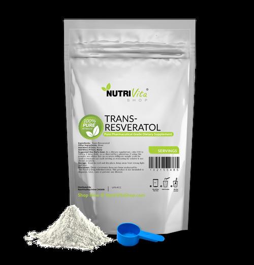 Trans Resveratrol 100% Pure Powder Anti-Aging Powder Kosher/USP Grade