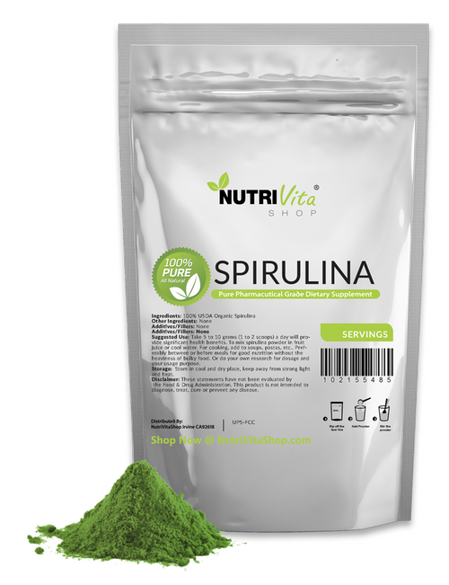Spirulina Powder All Natural Raw Pharmaceutical USP 100% Pure