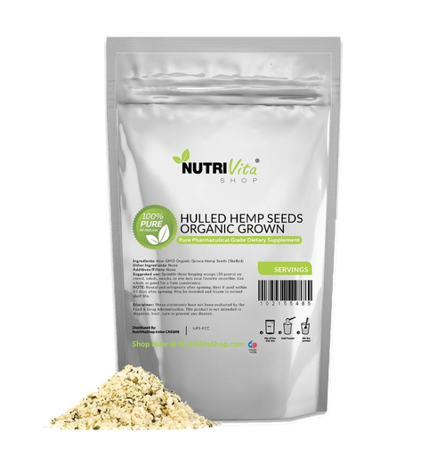 Premium Hemp Raw Shelled Seeds (Gluten Free + Vegan + nonGMO + Organic Grown)