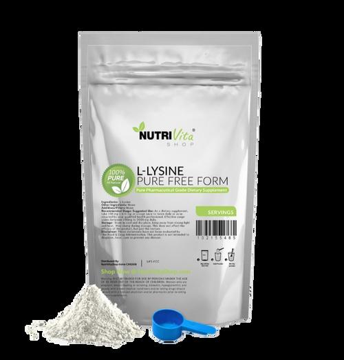 L-Lysine Powder - 100% Pure Free Form Amino Acid Pharmaceutical Grade USP