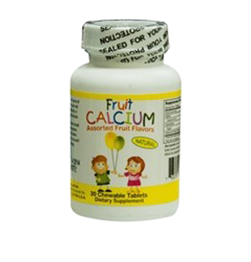 Children's Fruit Calcium Tablets For Age 4+