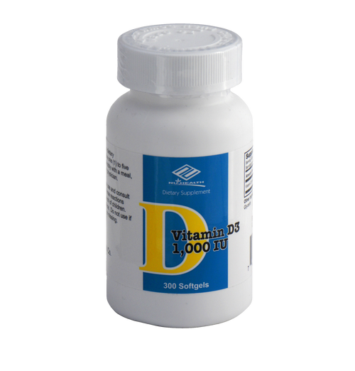 Vitamin D3 (300 Softgels/1000IU)