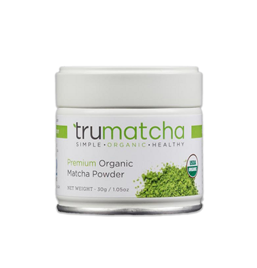 TruMatcha Japanese Matcha Green Tea Organically Grown nonGMO Fair Trade 100% Pure