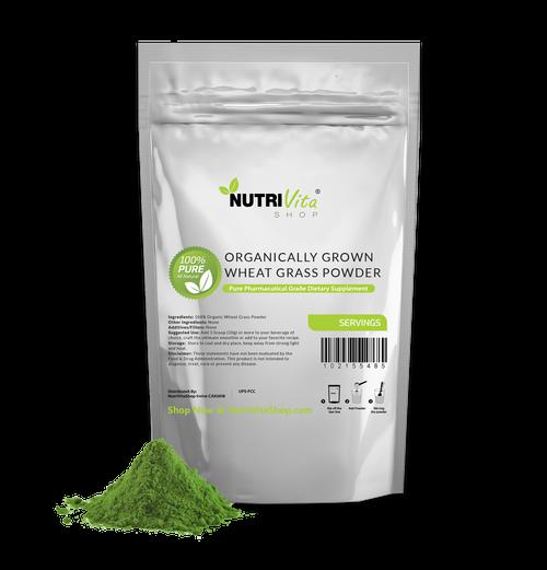 Wheat Grass Powder USDA Certified Organic - Superfood 100% Pure