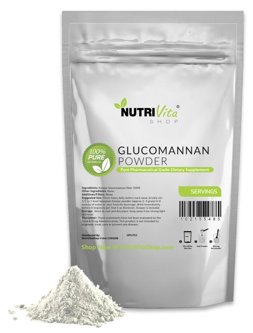 100% Pure Glucomannan Konjac Root Powder