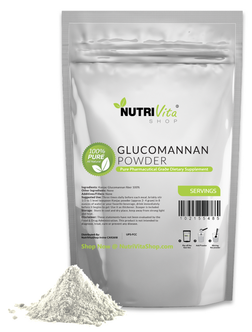 100% Pure Glucomannan Konjac Root Powder