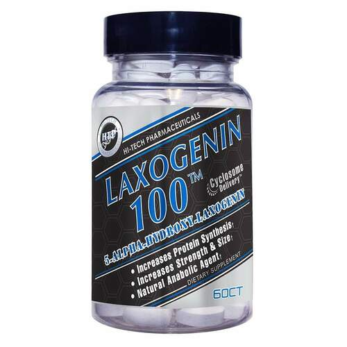 Hi-Tech Pharmaceuticals: Laxogenin 60 Tablets FREE SHIPPING