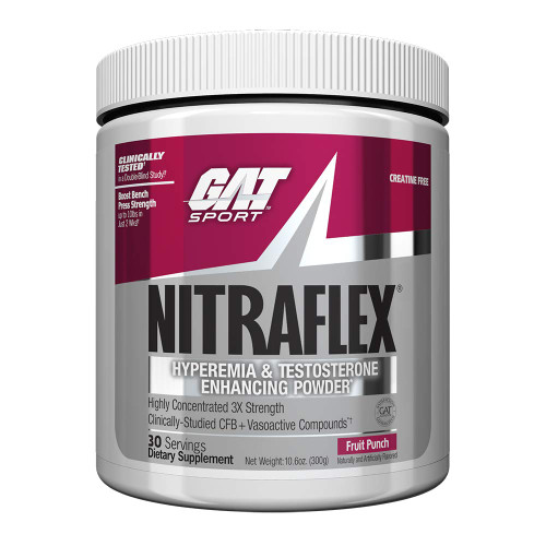 GAT Nitraflex Pre Workout 30 servings 300g- All Flavors Testosterone Booster