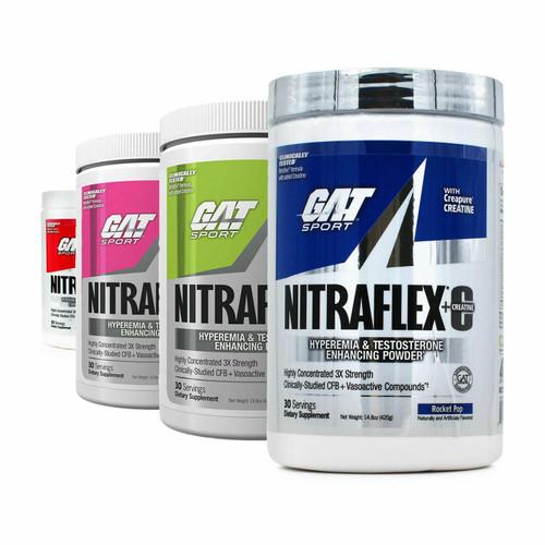 GAT Nitraflex + C (Creatine) Pre Workout 30 servings 300g Testosterone Boost