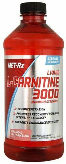 Met Rx Liquid L-Carnitine 3000 Natural Watermelon 16 oz
