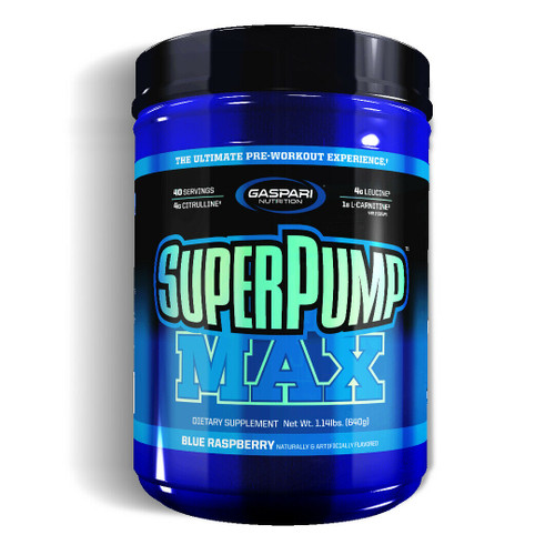 Gaspari SuperPump MAX Pre-Workout Nitric Oxide 40 Servings