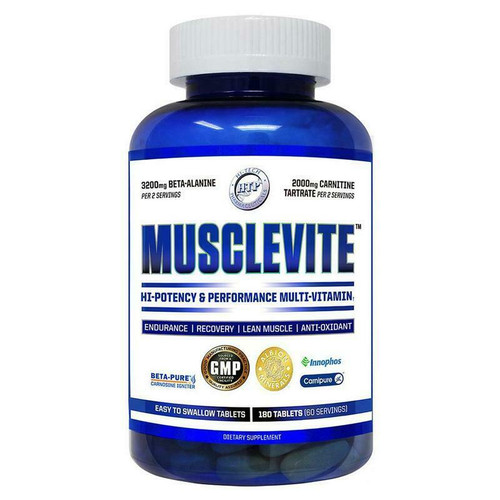 Hi-Tech Pharmaceuticals MUSCLEVITE Multi-Vitamin 180 Tabs FREE SHIPPING
