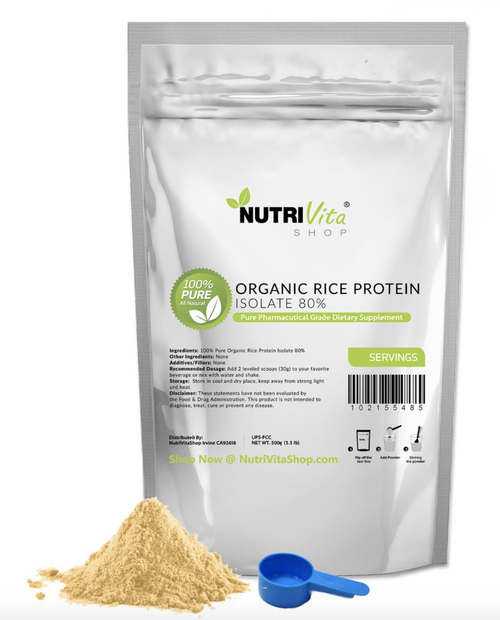 100% ORGANIC RICE PROTEIN PRO ISOLATE NON-GMO HIGH PROTEIN VEGAN USP GRADE