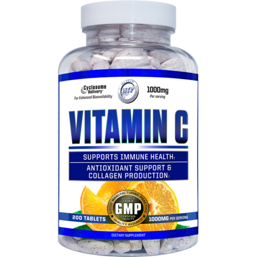 Hi-Tech Pharmaceuticals Vitamin C 1000mg 200 Tabs Liposomal Delivery Technology FREE SHIPPING
